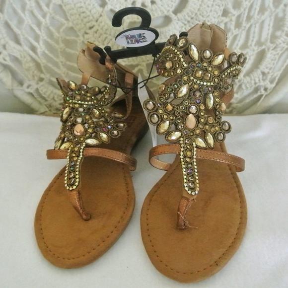 a991846f9acbba MUK LUKS Women s Rosa Zip Back Sandals 6 Bronze